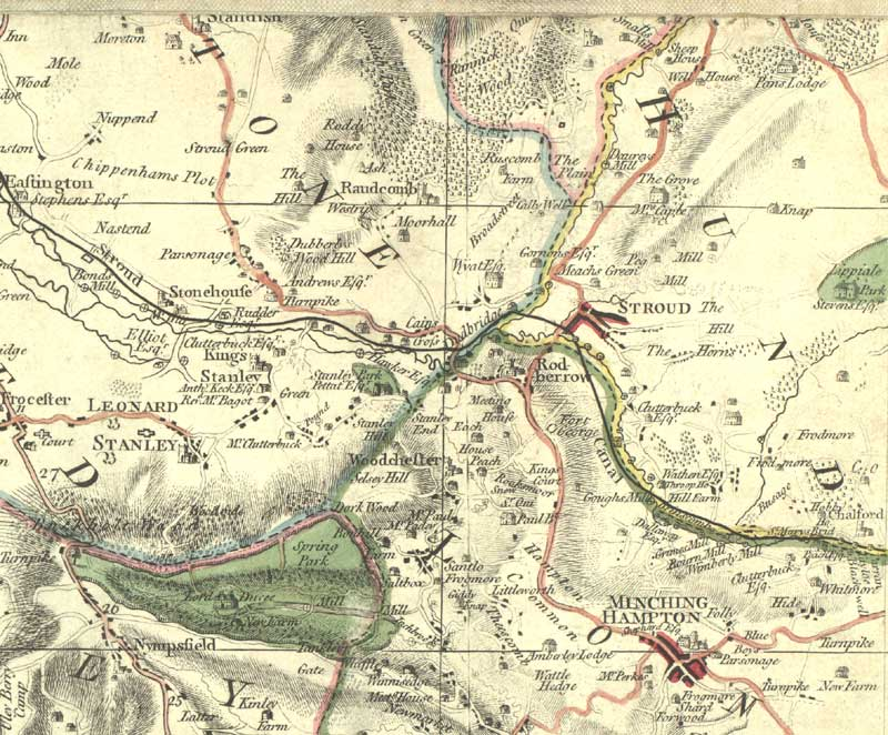 Digital Stroud  Getting Here  Roads  Map of 1800